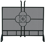"Uniflame S-1461 37"" High Single Panel Olde World Iron Celtic Fireplace Screen"
