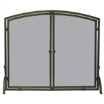 UniFlame S-1632 Single Panel Bronze Finish Screen with Doors