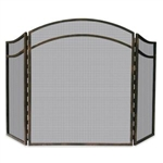 Uniflame 3 Fold Antique Rust Wrought Iron Arch Top Screen