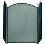 UniFlame S-3652 3 Fold Large diameter Black Finish Screen with Woven Mesh