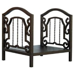 UniFlame Bronze Log Rack with Arched Center
