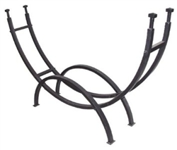 UniFlame Contemporary Black Log Rack