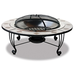 Mosaic Tile / Stainless Steel Outdoor Firebowl