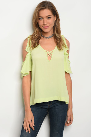121-1-4-TY13440QHB LIME OFF SHOULDER TOP 3-2