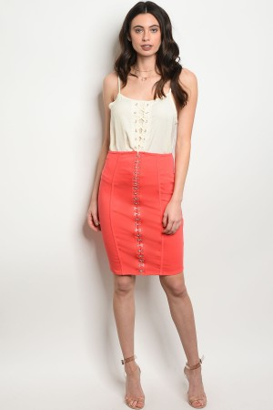 C66-B-5-S33362 CORAL SKIRT 2-2-2