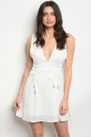 107-2-3-D31571 OFF WHITE DRESS 3-2-1