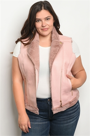 S12-5-2-V16662X ROSE PLUS SIZE VEST 2-2-2