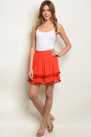 S3-7-5-NA-S0559 RED SKIRT 2-2-2