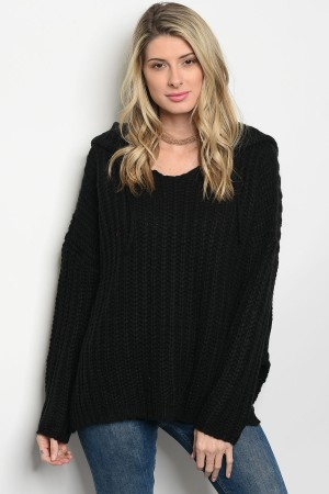 S8-5-3-S0050 BLACK KNIT SWEATER 4-2