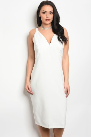 112-1-4-D24349X OFF WHITE PLUS SIZE DRESS 2-2-1