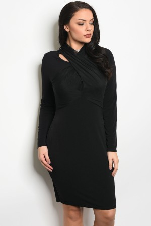 S2-4-1-D11610X BLACK PLUS SIZE DRESS 2-2-2