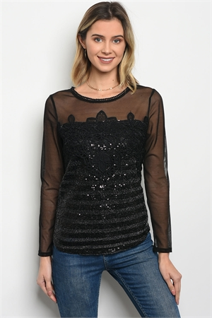120-1-1-T7352 BLACK WITH SHIMMER TOP 2-2-2