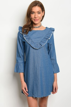 S2-5-1-D8981 BLUE DENIM DRESS 2-2-2