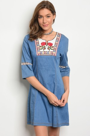 S2-10-5-D0675 LIGHT BLUE DENIM EMBROIDERY 2-2-2