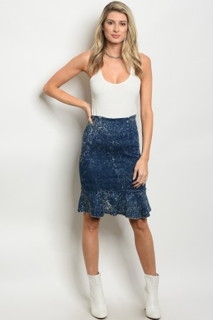 S12-6-1-S060 BLUE DENIM SKIRT 2-2-2