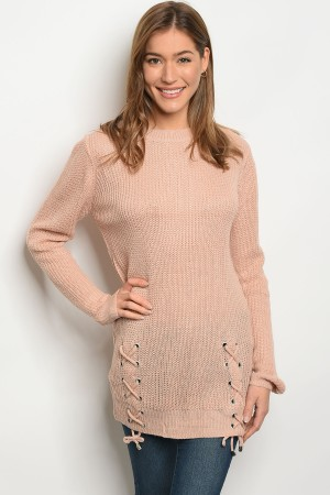 S2-4-5-S1711 DUSTY PINK LIGHT SPRING KNIT SWEATER 3-3