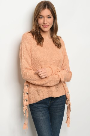 S2-7-2-S1703 PEACH LIGHT SPRING KNIT SWEATER 3-3