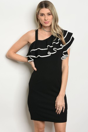 S9-13-3-DID71684 BLACK WHITE DRESS 2-2-2