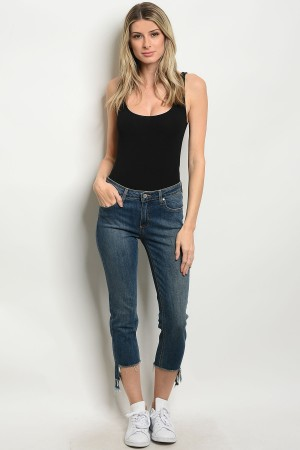 135-4-2-J64 MEDIUM DENIM JEANS 4-1-1