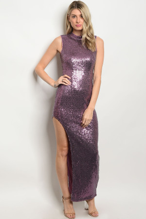 S5-3-4-D8476 LAVENDER WITH SEQUINS DRESS 2-2-2