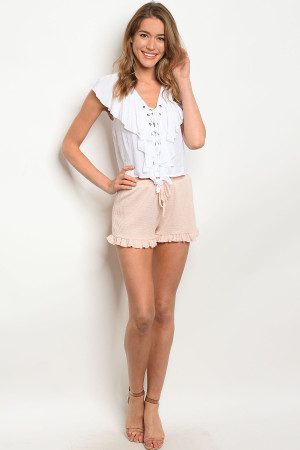 C69-B-5-SP160NI26 BLUSH SHORTS 2-2-2