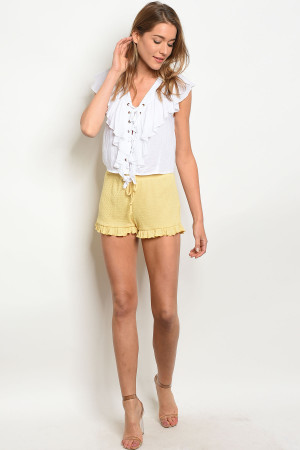 C74-B-1-SP160NI26 YELLOW SHORTS 1-2-2