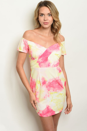 117-1-2-D00180 YELLOW PINK DRESS 2-2-2