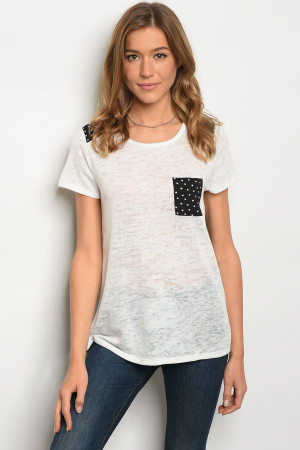 C49-B-2-T7337 WHITE BLACK TOP 2-2-2