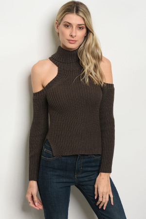 S14-10-4-S1007 BROWN SWEATER 3-3