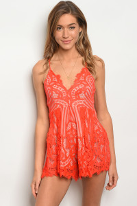 S4-10-2-R8163 RED LACE ROMPER 3-2-1