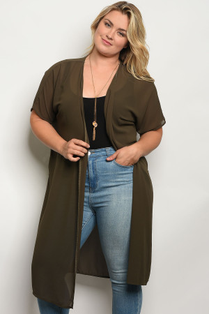 C26-A-3-T653X GREEN PLUS SIZE TOP 2-2-2