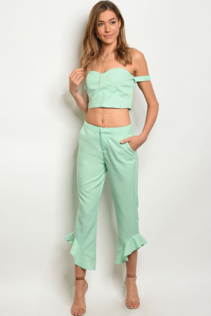 123-1-1-SET60140 MINT TOP & PANTS SET 2-2-2