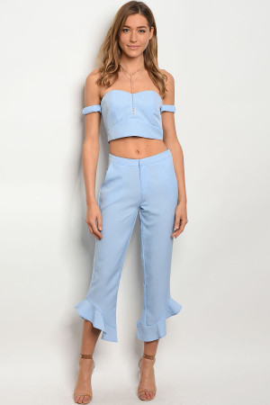123-1-3-SET60140 BLUE TOP & PANTS SET 2-2-2
