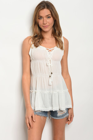 124-1-2-T10379 OFF WHITE TOP 2-2-2