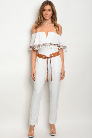 120-2-1-J7073 WHITE JUMPSUIT 3-2-1