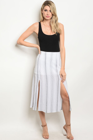 C28-A-1-S3494 WHITE BLACK SKIRT 2-1