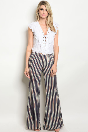 C20-A-1-P8193 NAVY WITH STRIPES PANTS 1-2-1