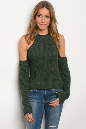 S2-10-3-S1001 GREEN SWEATER 3-2-1