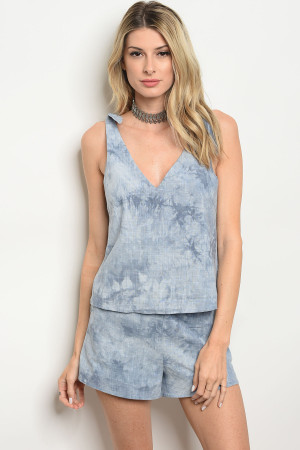 S14-12-2-NA-S73148 BLUE WASH SHORT 3-2-1  ***TOP NOT INCLUDED***