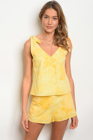 S9-20-1-NA-S73148 YELLOW WASH SHORT 3-2-1  ***TOP NOT INCLUDED***