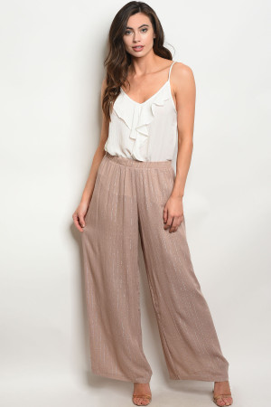 135-1-1-P12828 TAUPE SILVER STRIPES PANTS 3-2-1