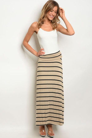 C11-A-6-S5785 KHAKI BLACK SKIRT 2-2-2