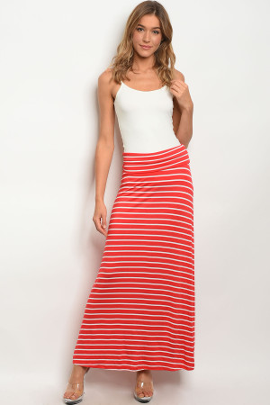 C33-A-2-S5785A RED WHITE SKIRT 2-2-2
