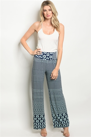 C90-A-5-P2232 NAVY MINT PANTS 2-2-2