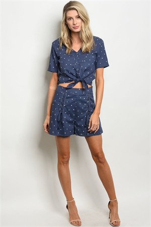 S15-1-2-S1032 NAVY SHORT 2-2-2  ***TOP NOT INCLUDED***