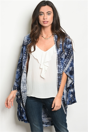 S13-5-1-NA-C17360 NAVY WHITE CARDIGAN 2-2-2