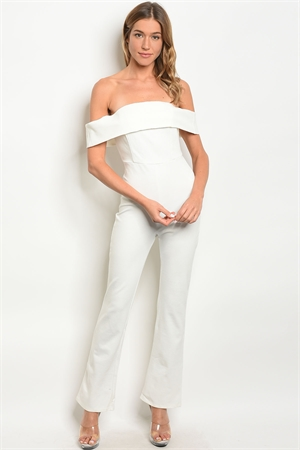 S15-12-1-J5544 OFF WHITE OFF SHOULDER JUMPSUIT 4-2-1
