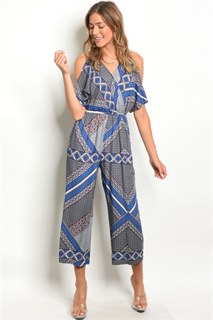 124-2-4-R59270 BLUE WHITE JUMPSUIT 2-1-3