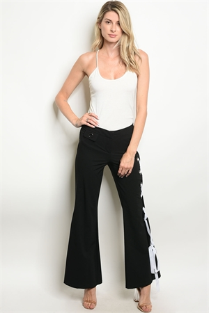 S16-7-6-P47043 BLACK WHITE PANTS 2-2-2