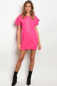 C84-A-7-D50440 FUCHSIA SWEATER DRESS 2-2-2